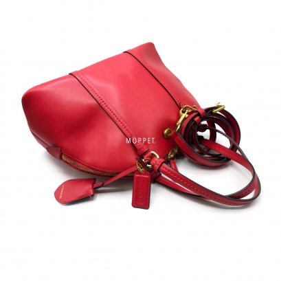 6145bc2b079117 Used Coach Hand Bag in Red Leather GHW
