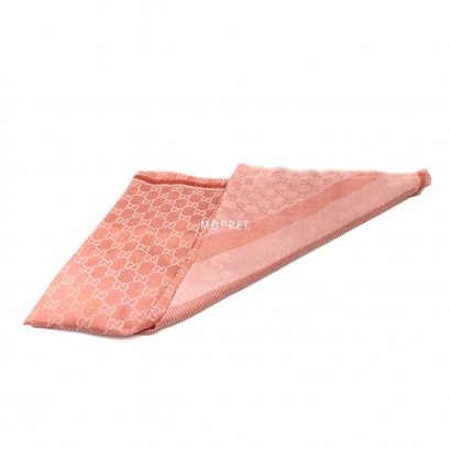 New Gucci Scarf 140 CM in Pink Cotton