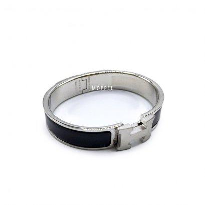 NEW Hermes Clic Clac Bracelet PM Size S in Black PHW