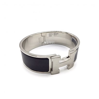 NEW Hermes Clic Clac Bracelet Size M in Black PHW