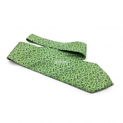 New Hermes Necktie in Green Animal