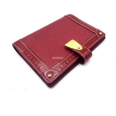 Used LV Suhali Passport Holder in Burgundi Leather GHW