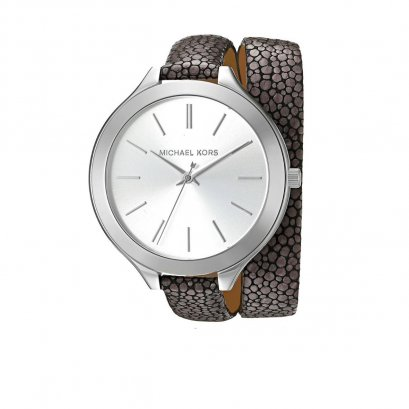 New Michael Kors Watch MK2475 in Grey Leather SHW