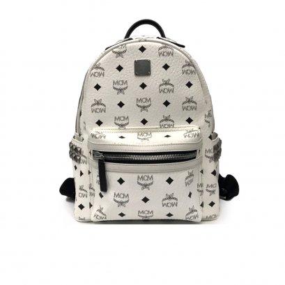 Like New MCM Backpack Small in White RHW
