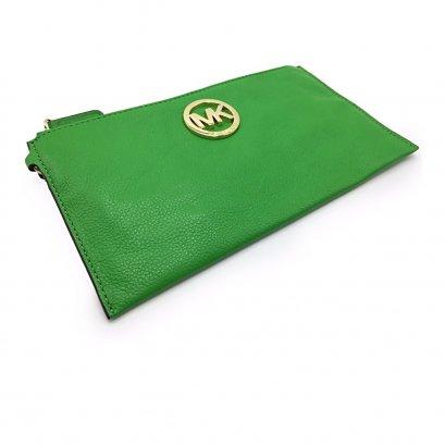 New Michael Kors Mini Clutch in Green GHW