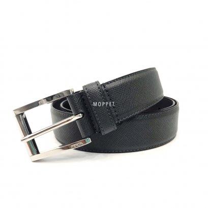 "Unused PradaBelt 95"" in Grey Leather SHW"