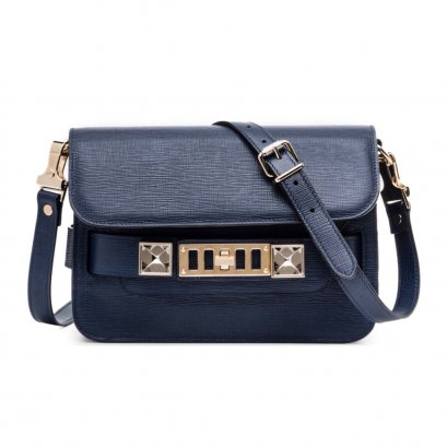 New Proenza Schouler PS11 Mini in Indigo Linosa SHW