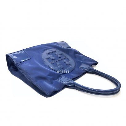 Used Tory Burch Tote Bag in Blue Nylon GHW