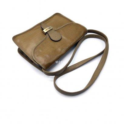 Used YSL Vintage Crossbody Bag in Khaki Canvas GHW