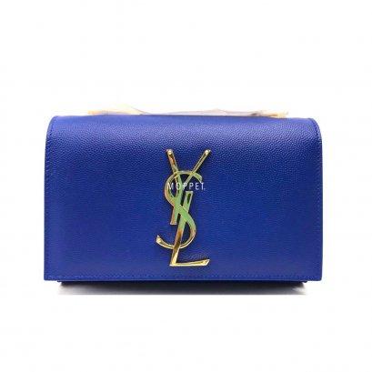 New YSL Kate Mini Bag in Royal Blue Caviar GHW