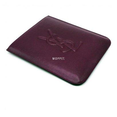 New YSL Logo IPAD Case in Purple Leather