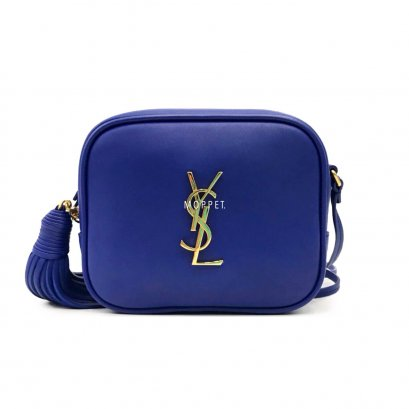 Like New YSL Blogger Bag in Royal Blue Leather GHW