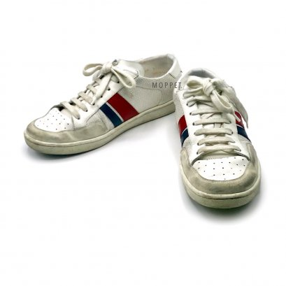 """Used Saint Laurent Sneakers Size 39"""" in White Leather"""