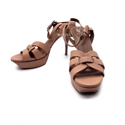 "New YSL TRibute 3.5"" Size 41.5"" in Nude Leather RHW"