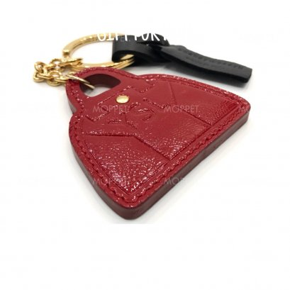 New YSL Key Charm in Red Patent Leather GHW