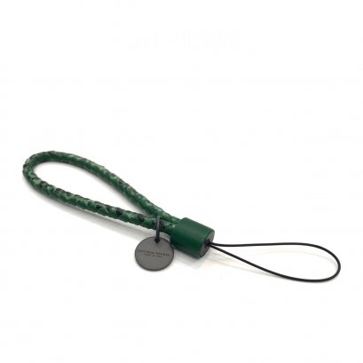 New Bottega Phone Charm in Green Leather RHW