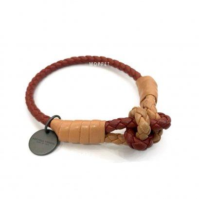 "New Bottega Bracelet M"" in Two Tone Leather RHW"