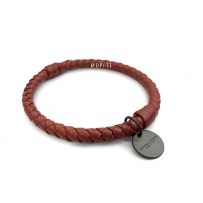 "New Bottega Bracelet M"" in Red Leather RHW"