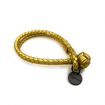 "New Bottega Bracelet M"" in Gold Leather RHW"
