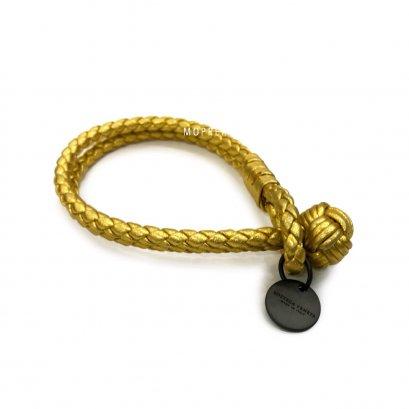 "New Bottega Bracelet M"" in Gold Leather RHW"