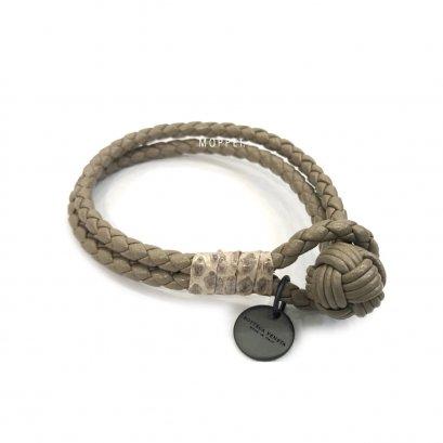 """New Bottega Bracelet M"""" in Etoupe 2 Leather RHW"""