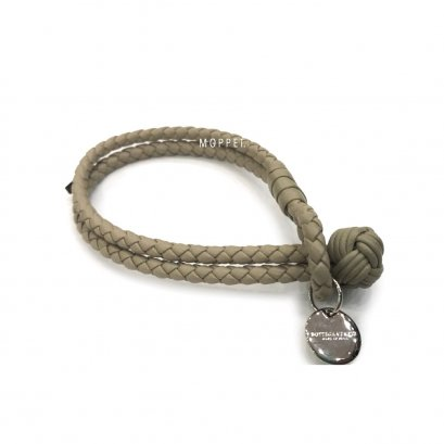 "New Bottega Bracelet M"" in Etoupe Leather SHW"
