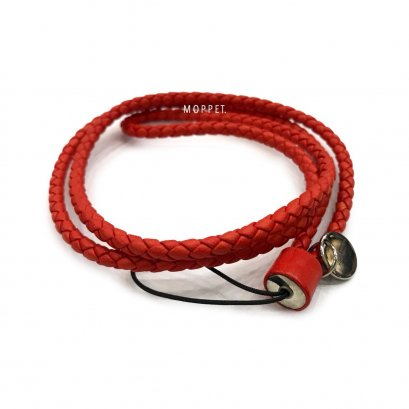 New Bottega Lanyard Red Leather SHW
