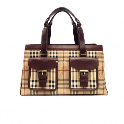 Used Burberry Tote Bag in Haymarket/ Brown GHW