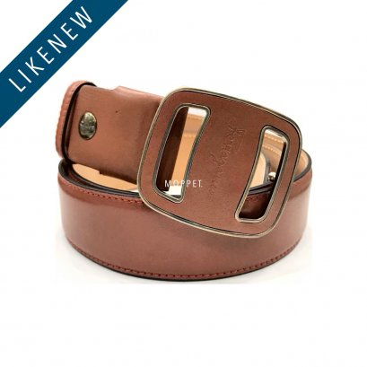 "Like New Ferragamo Belt 85"" in Brown Leather RHW"