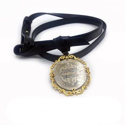 Used Dolce&Gabbana Women Belt in Black Leather G/SHW