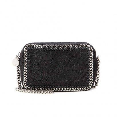 New Stella MacCartney Falabella Camera Box Bag in Black RHW