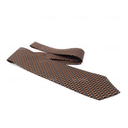 New Hermes Necktie in Graphic Printed 2