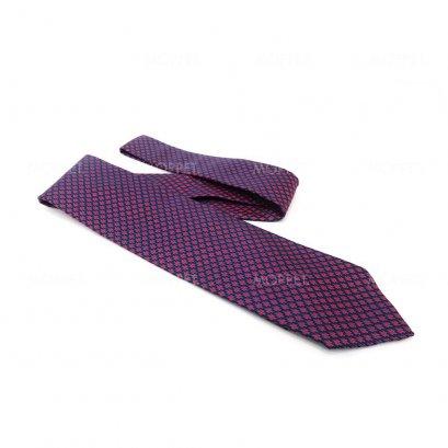 New Hermes Necktie in Purple Red