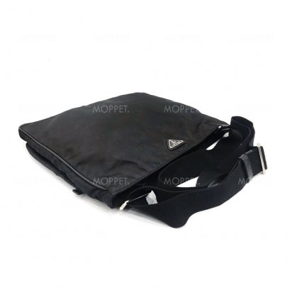 Used Prada Messenger Bag in Nero Nylon SHW