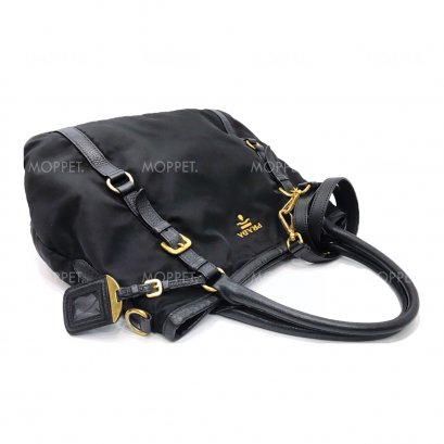 Used Prada Tessuto Bag in Nero Nylon GHW