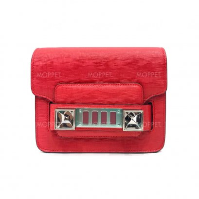 New Proenza Schouler PS11 Tiny in Red Linosa SHW