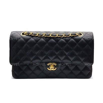 "New Chanel Classic 10"" in Black Caviar GHW"