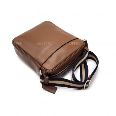 New Coach Charles Flight CrossbodyBag in Saddle Leather SHW