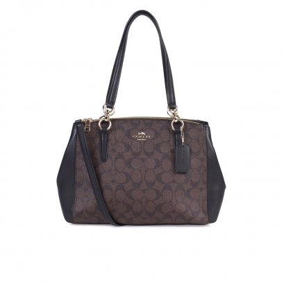New Coach Small Christie Handbag in Mahogany/Black GHW
