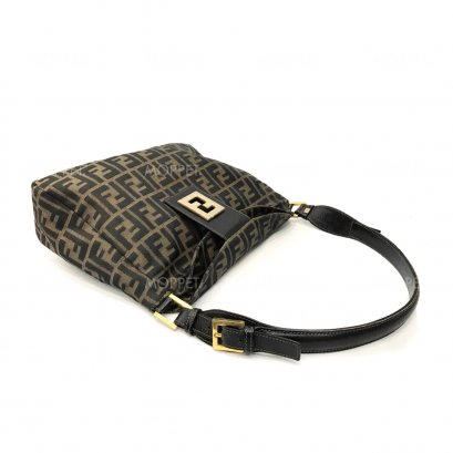 Used Fendi Shoulderbag in Zucca Brown GHW