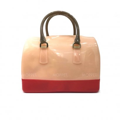 Used Furla Candy Handbag in Old Rose/Pink Jelly GHW