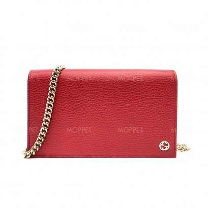 New Gucci Leather WOC in Red LGHW