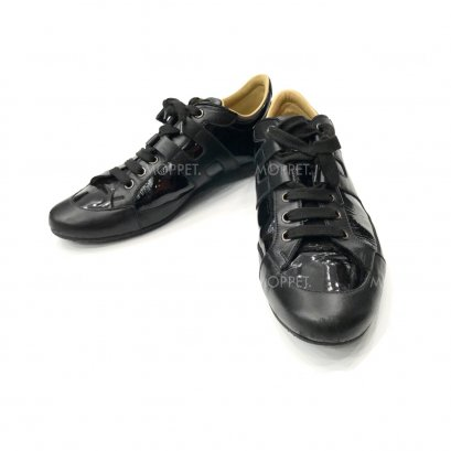 """Used Hermes Sneakers 39"""" in Black Leather"""