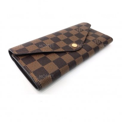 Used LV Josephine Long Wallet in Damier Ebene GHW
