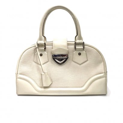Used LV Bowling Montaigne in Ivory Epi Leather SHW