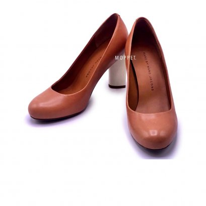 "Used Marc By Marc Jacobs High Heels 35.5"" in Brown/White"