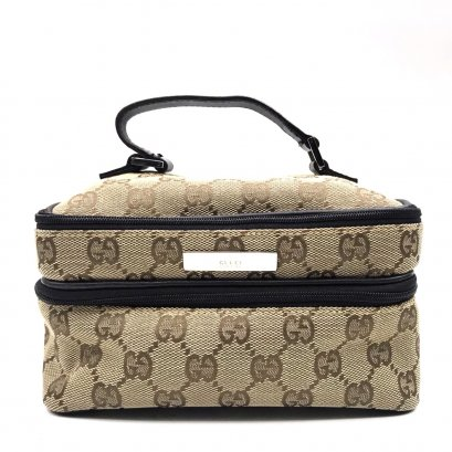 Used Gucci Vanity bag in Signature Canvas SHW
