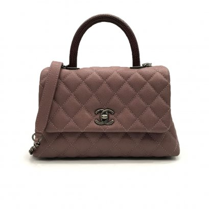 "Used Chanel Coco 9.5"" in Pink Caviar RHW"