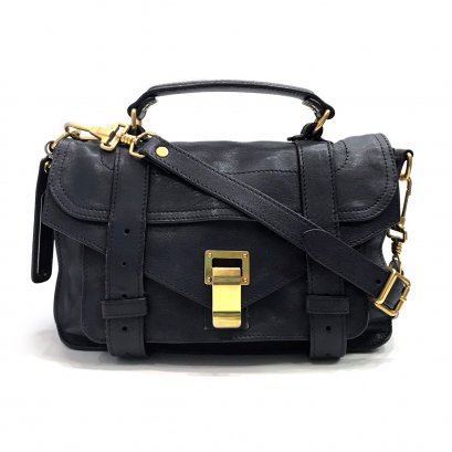 Used Proenza Schouler PS1 Tiny in Midnight Leather GHW