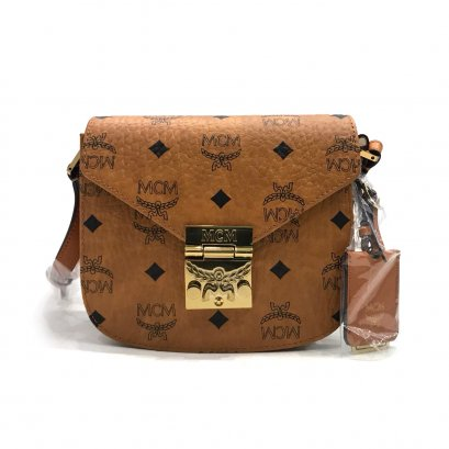 New MCM Patricia Mini in Cognac Visetos GHW